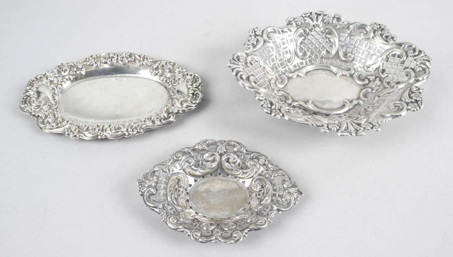 Lot 15 - Two Victorian pierced silver dishes,