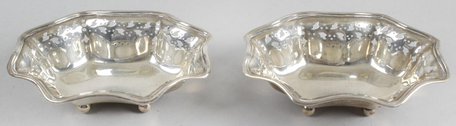 Lot 27 - A pair of silver trinket dishes,
