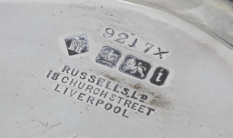 Lot 48 - An Edwardian silver salver,