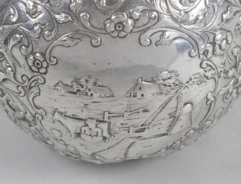 Lot 30 - A Dutch silver jug,