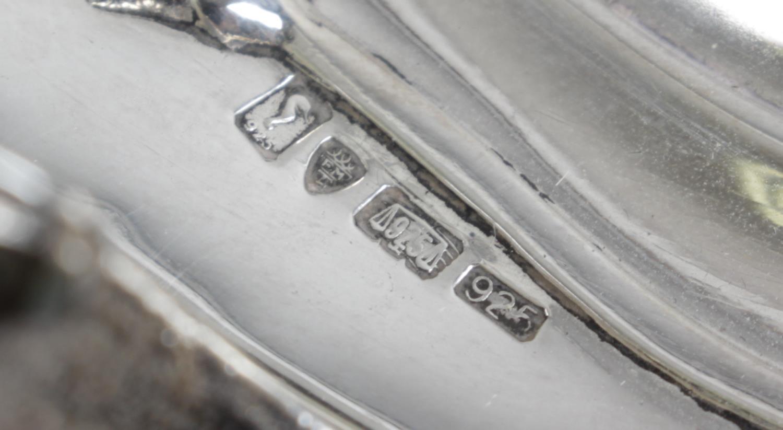Lot 135 - A modern silver mounted glass claret jug,