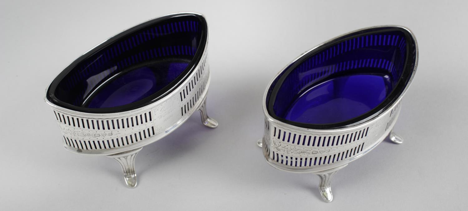 Lot 56 - A pair of early George V silver open salts,