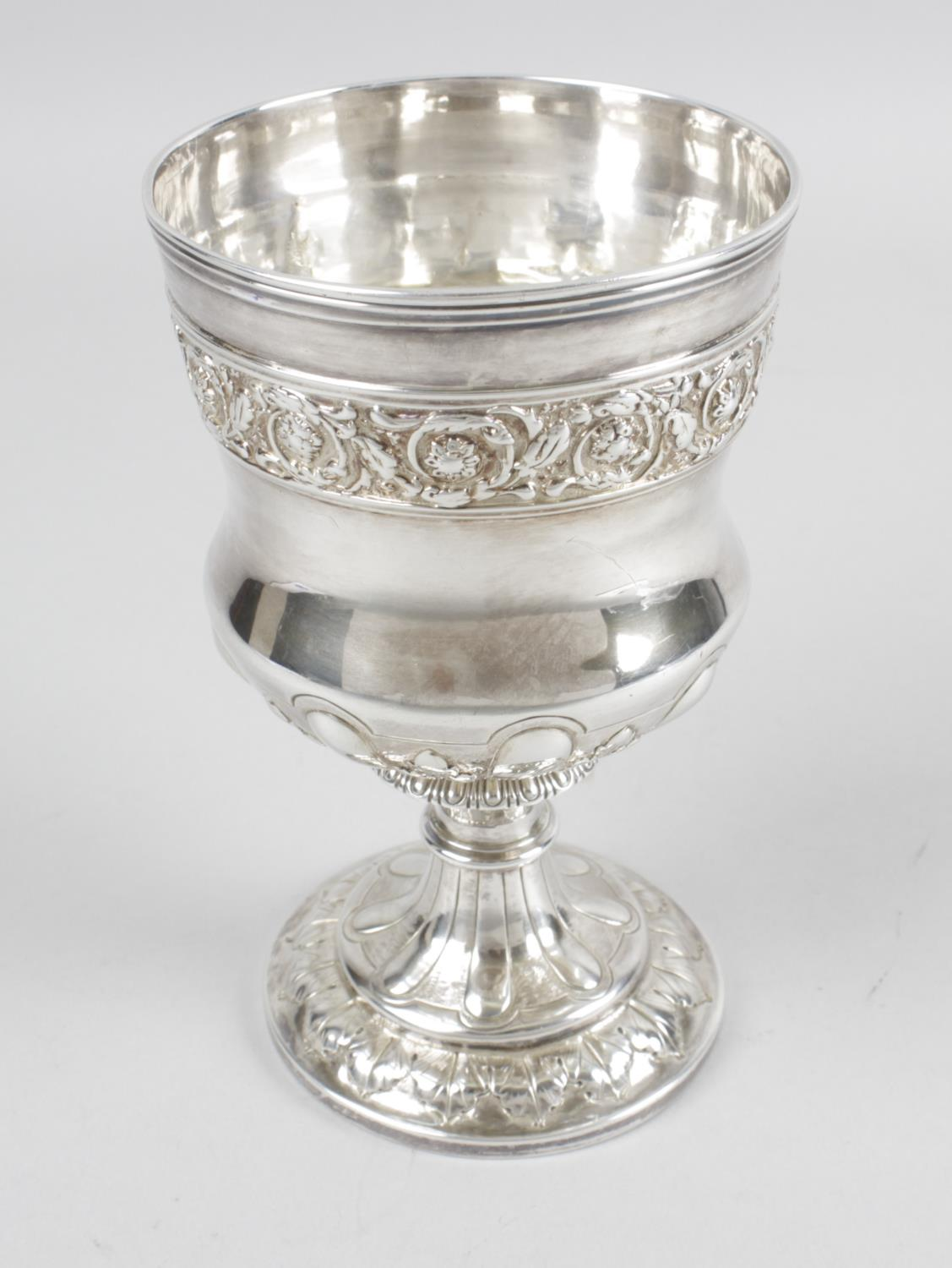 Lot 5 - A George IV silver goblet,