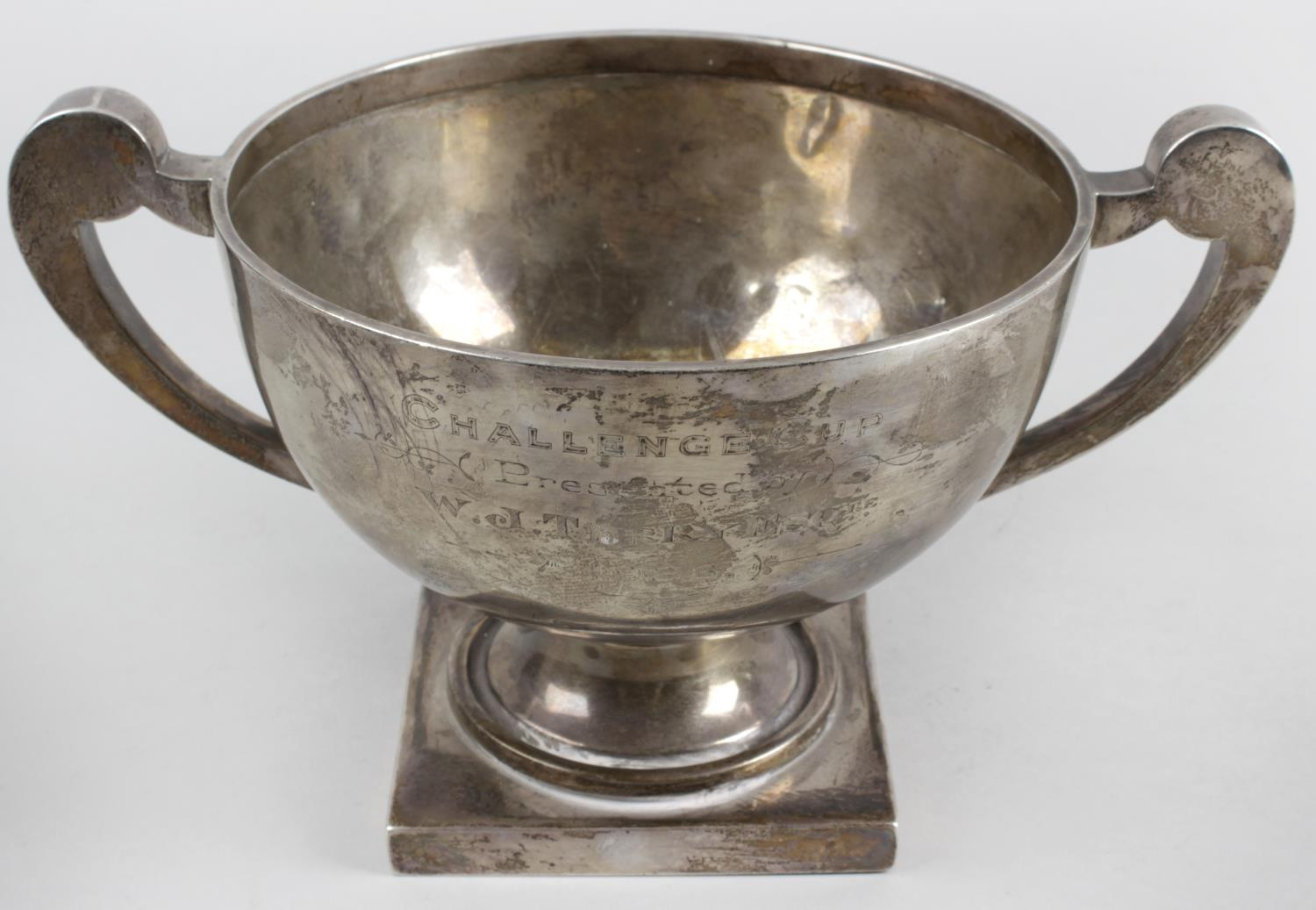 Lot 144 - An early twentieth century silver twin-handled cup,