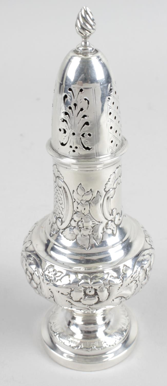 Lot 19 - A late Victorian silver caster,