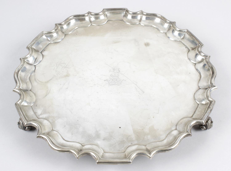 Lot 61 - A George V silver salver,