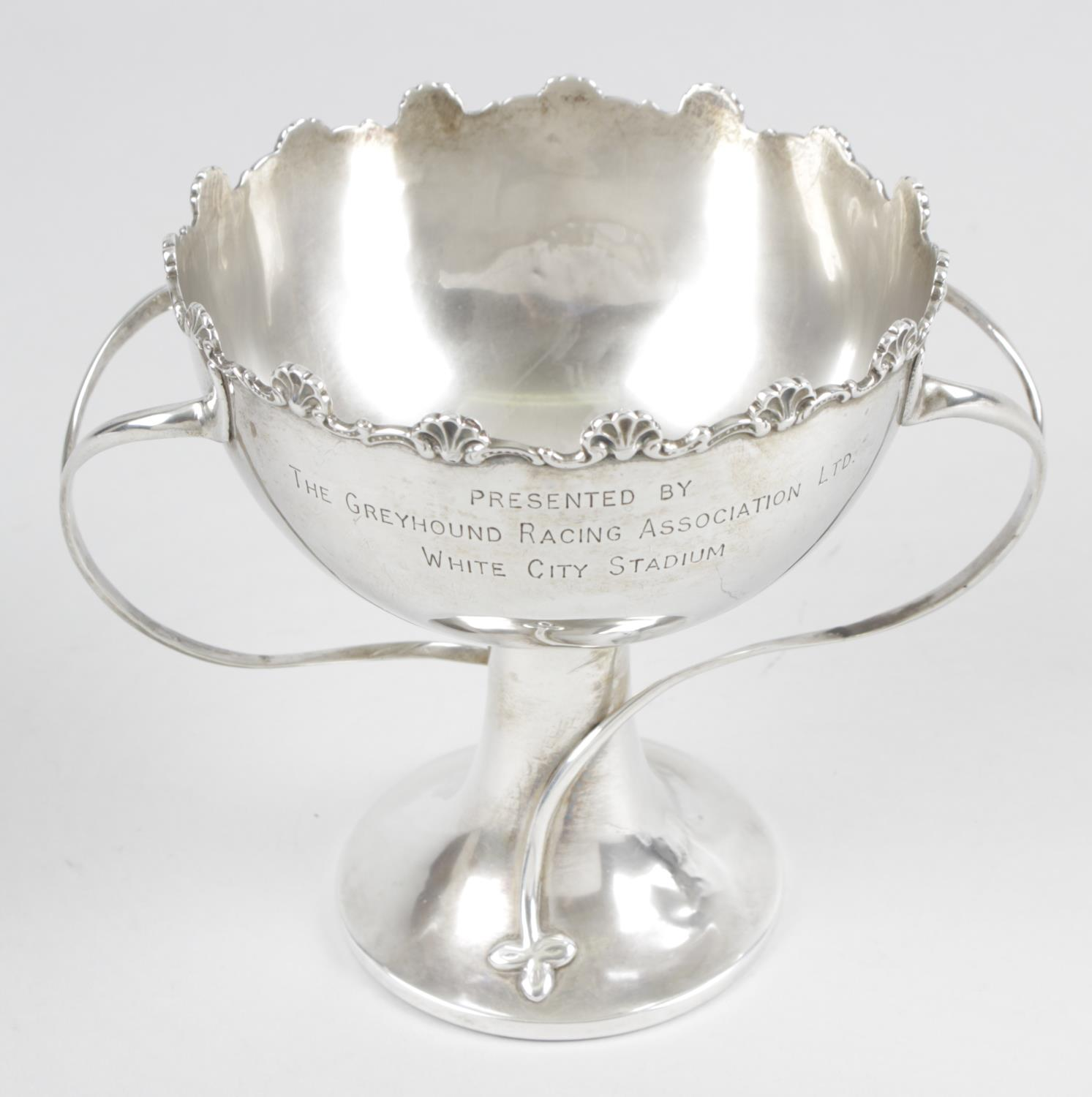 Lot 11 - An Edwardian silver pedestal bowl,