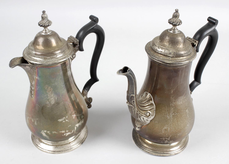 Lot 123 - A 1930's silver coffee pot,