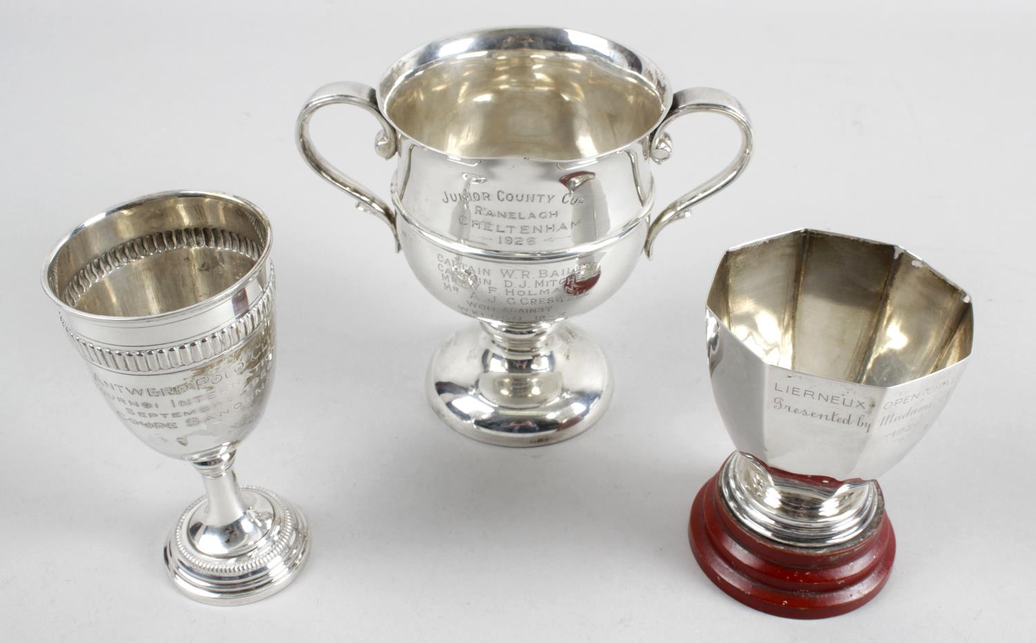 Lot 178 - Three silver trophies,