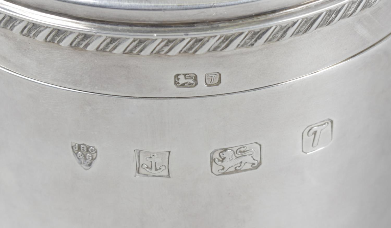 Lot 127 - A modern silver caddy,