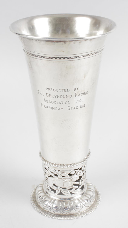Lot 70 - An early twentieth century German Hanau silver vase,