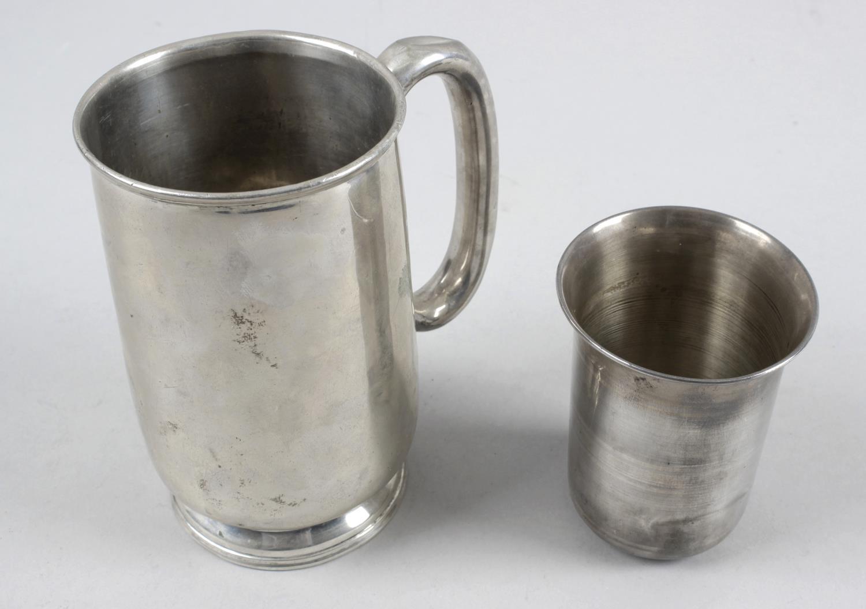 Lot 176 - A 1940's silver mug,