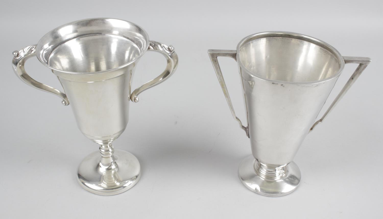 Lot 161 - A mid-twentieth century silver pedestal trophy cup,