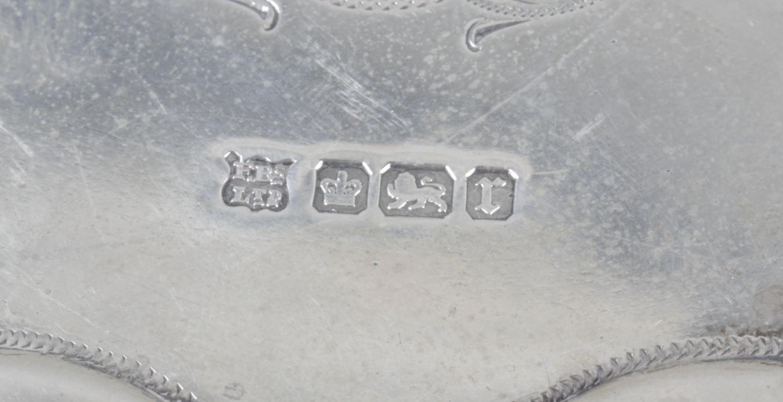 Lot 9 - A small Edwardian silver salver,