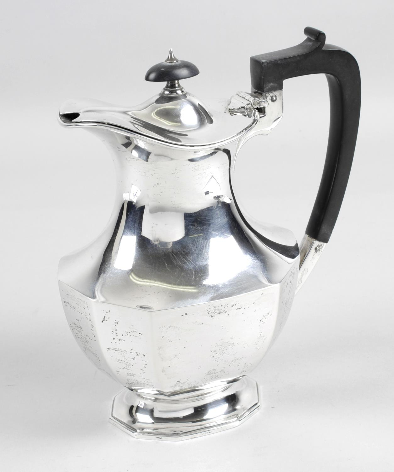 Lot 156 - A 1930's silver hot water pot,