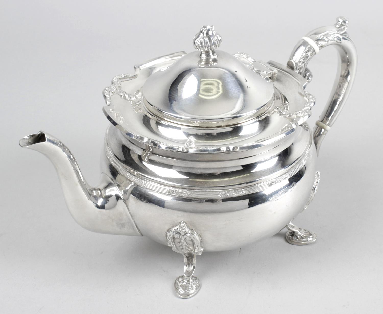 Lot 157 - A modern silver teapot,