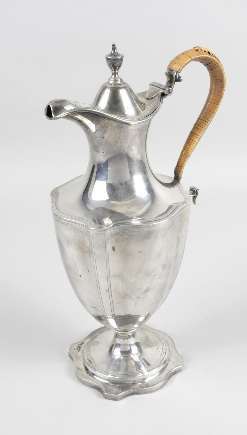 Lot 3 - A George III silver lidded jug,