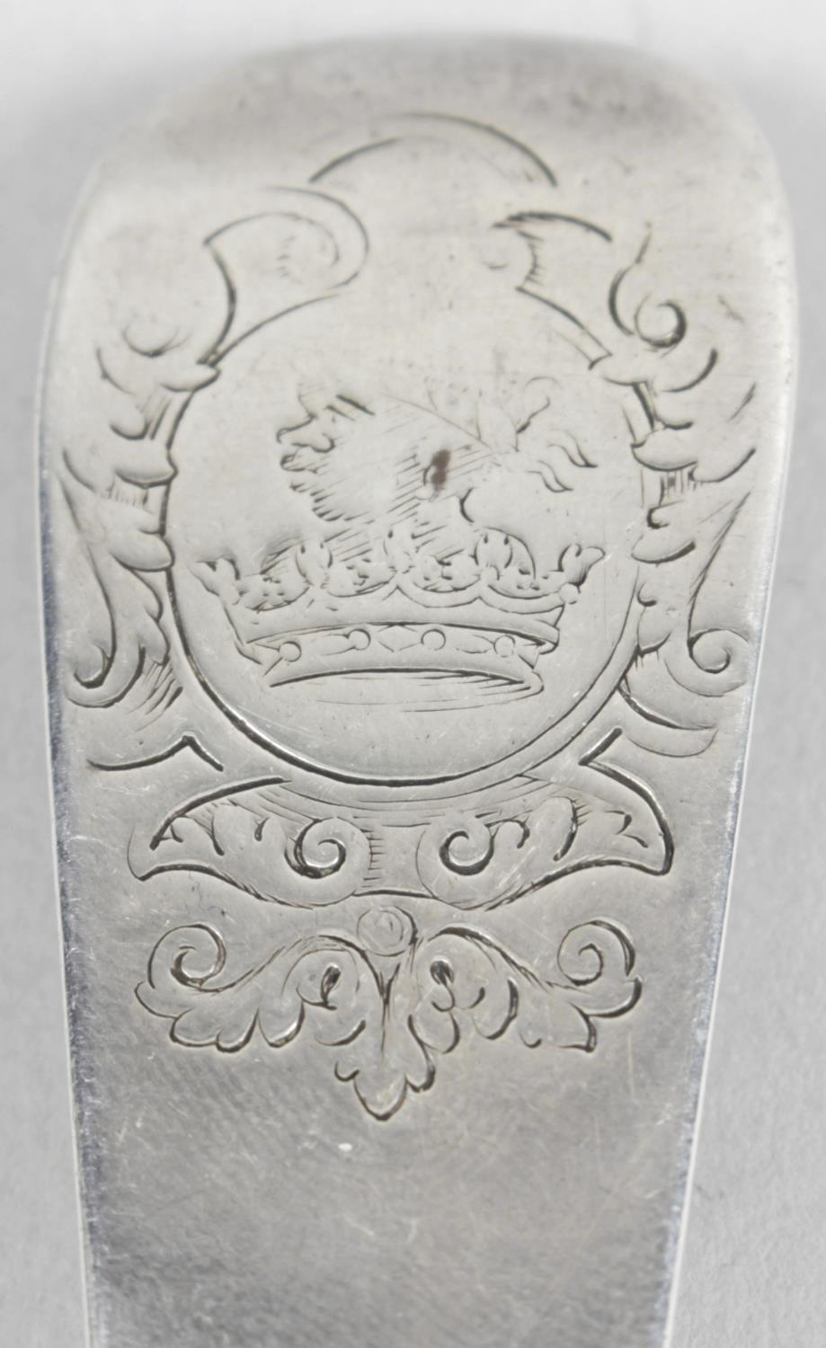 Lot 57 - An early eighteenth century silver basting spoon,