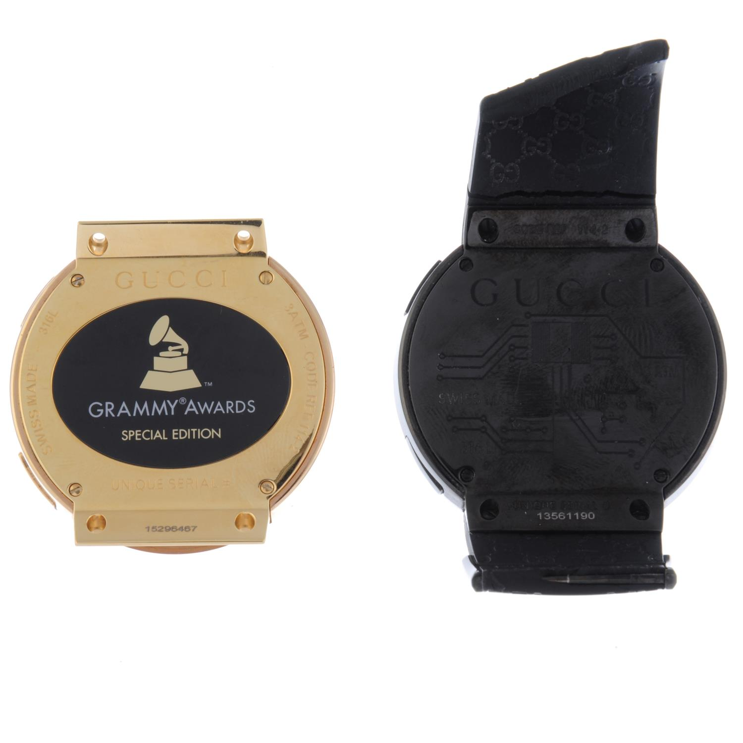 Lot 44 - GUCCI - a gentleman's Latin Grammy Awards Special Edition I-Gucci watch head.