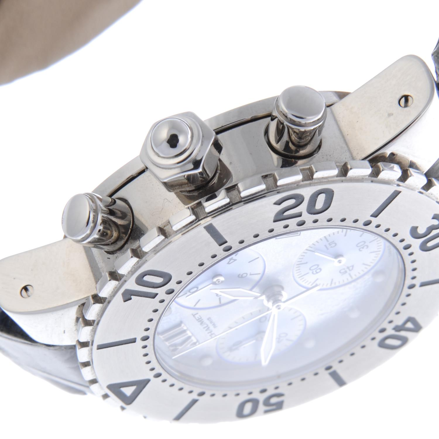 Lot 13 - CHAUMET - a lady's Class One chronograph wrist watch.