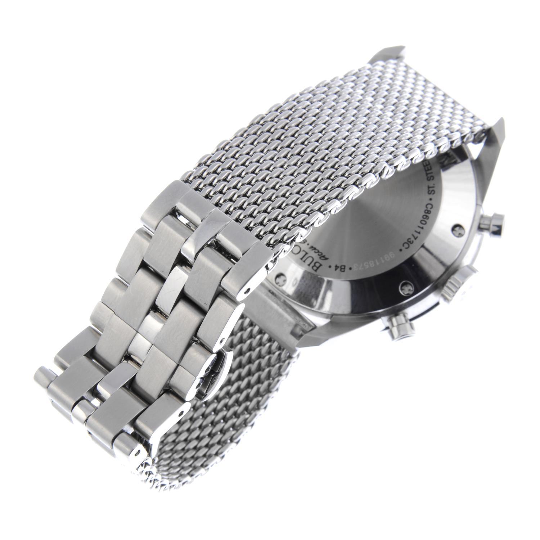 Lot 6 - BULOVA - a gentleman's Accu-Swiss chronograph bracelet watch.