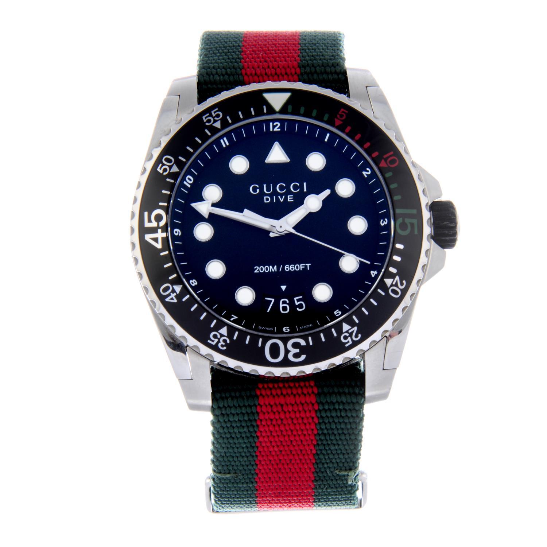 Lot 56 - GUCCI - gentleman's Dive wrist watch.