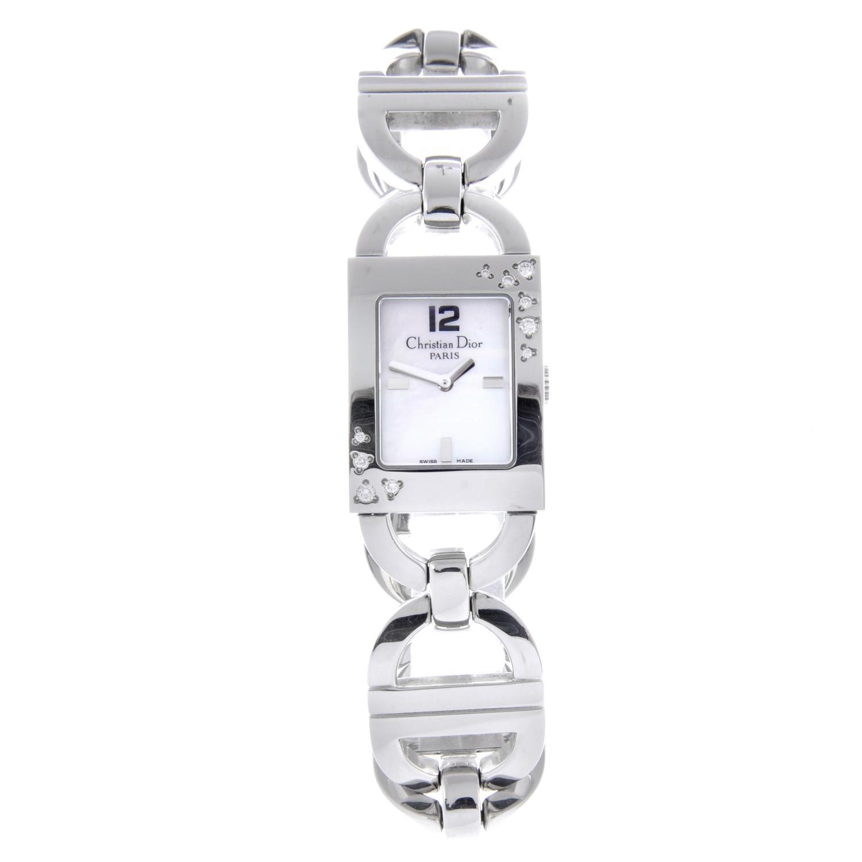 Lot 21 - DIOR - a lady's bracelet watch.