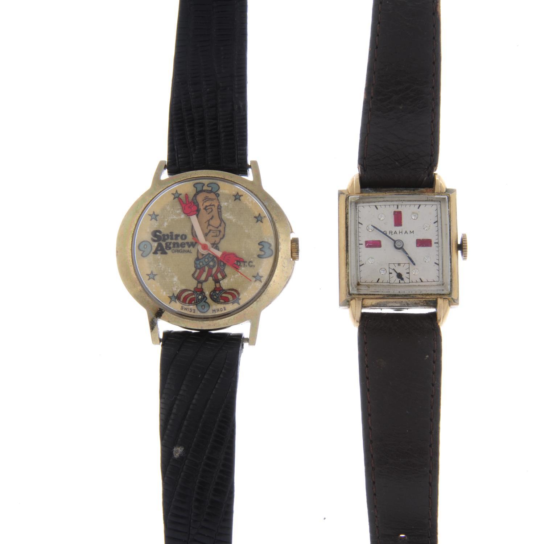 Lot 39 - GIRARD PERREGAUX - a gentleman's Gyromatic bracelet watch.