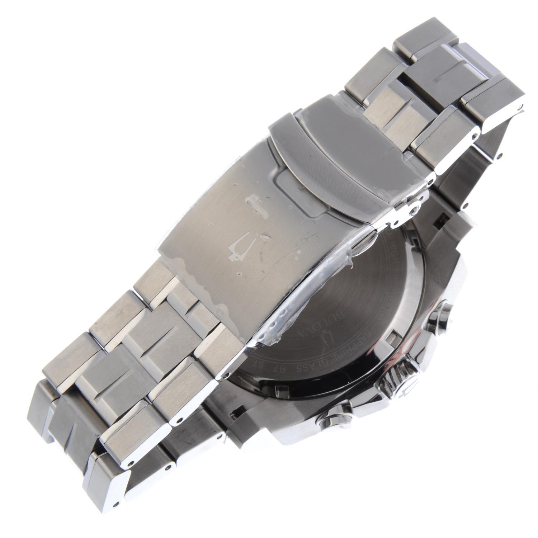 Lot 8 - BULOVA - a gentleman's Precisionist chronograph bracelet watch.