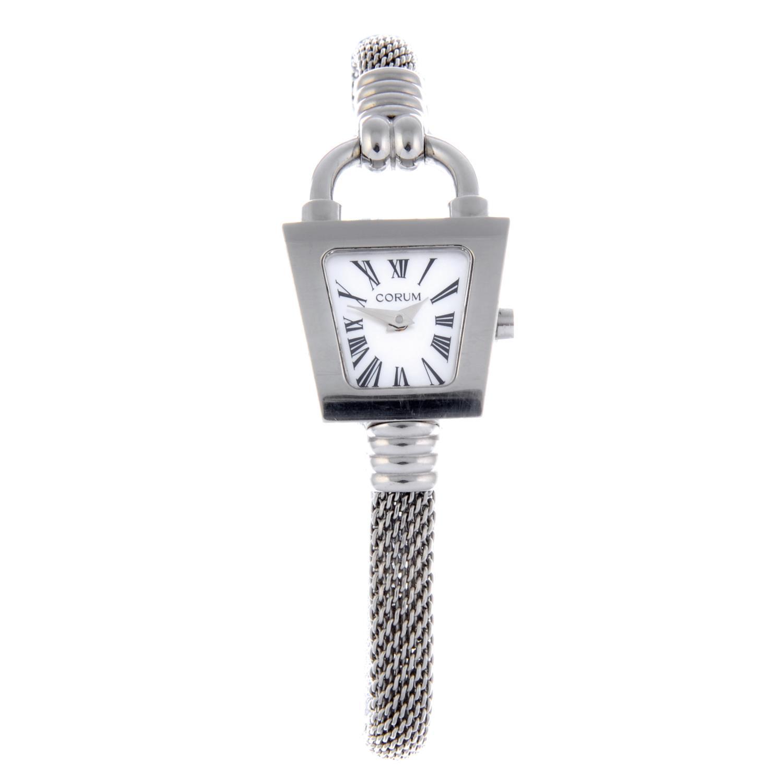 Lot 18 - CORUM - a lady's Boutique Padlock bracelet watch.