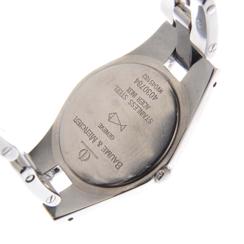 Lot 2 - BAUME & MERCIER - a lady's Linea bracelet watch.