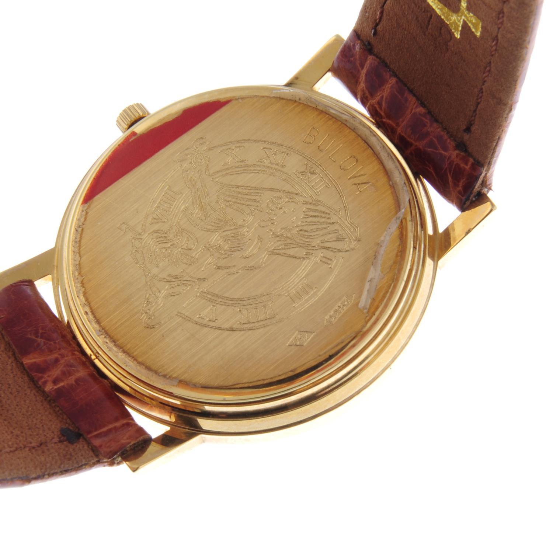 Lot 10 - BULOVA - a gentleman's wrist watch.