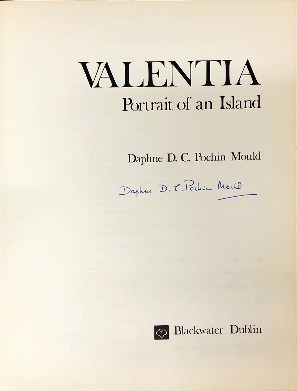 Lot 59 - Pochin Mould (D.D.C.) Valentia, Portrait of an Island, 4to D.