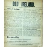 Lot 60 - Periodical: Old Ireland, Vol. I No. 4 - Vol. III No. 42, not complete, various numbers, Nov.