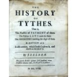Lot 2 - Selden (John) The History of Tythes, sm. 4to [L.] 1618. First Edn.