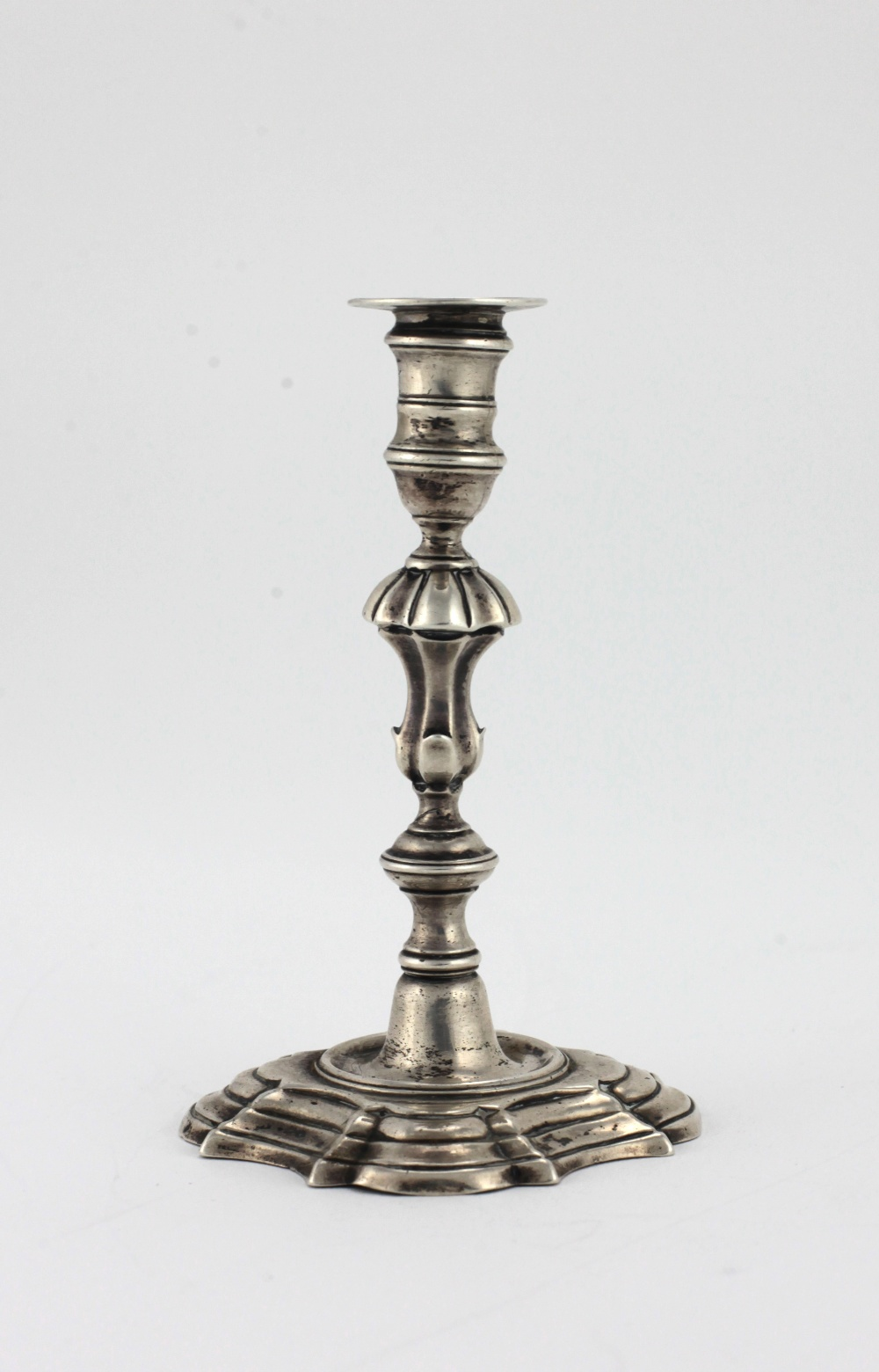 Lot 17 - An attractive and unusual 18th Century miniature / bachelors silver Candlestick,