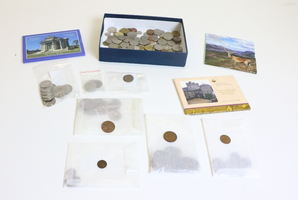 Lot 13 - Coins: A large collection of Irish & English Coins, including 1988 Millennium 50p, 20p pieces, etc.