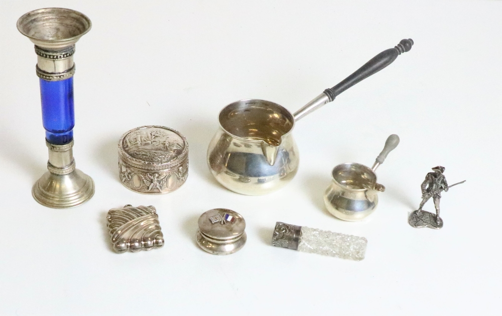 Lot 50 - Silverware: A varied collection of silver and other Curio Items, including napkin rings,