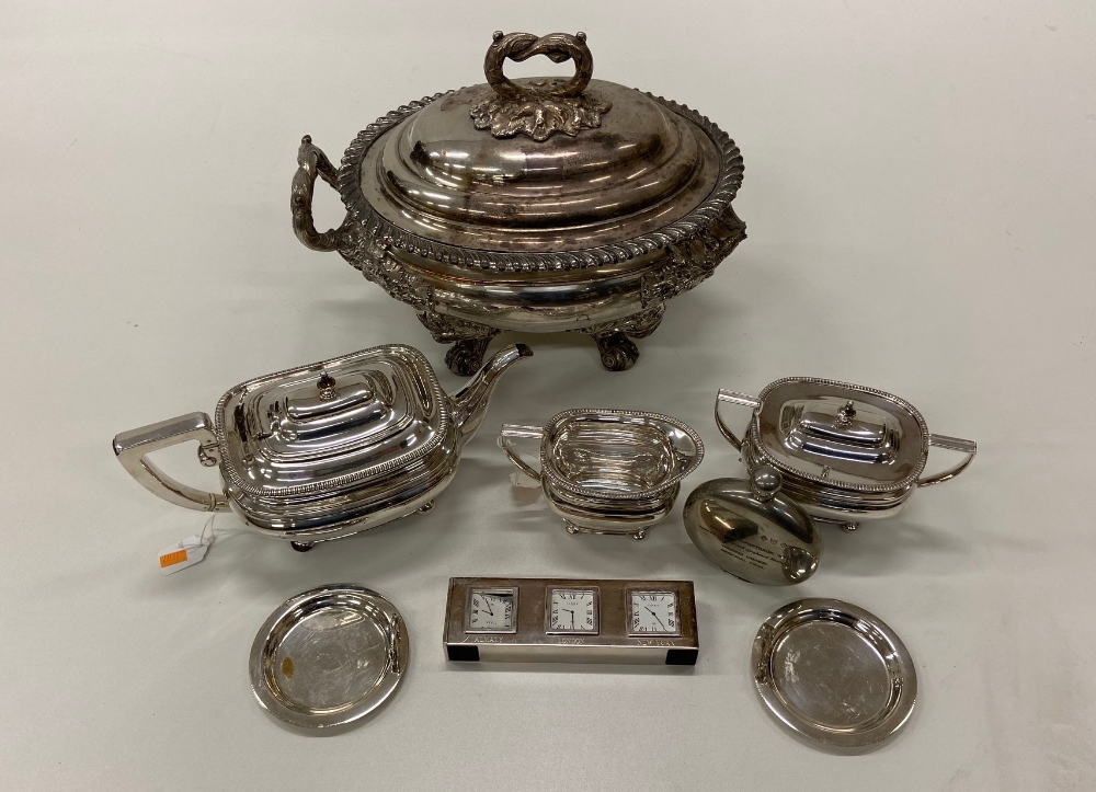 Lot 1 - An exceptionally fine quality heavy 19th Century silver plated Soup Tureen and Cover,