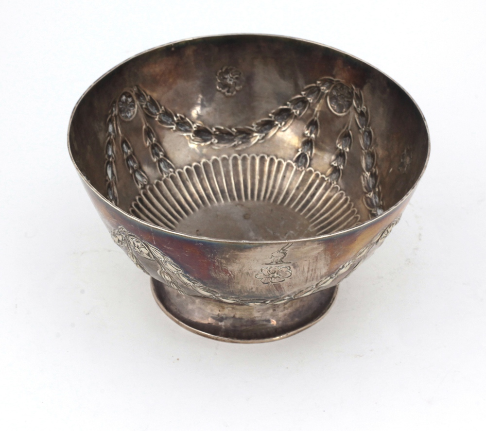 Lot 27 - An 18th Century English silver crested Bowl,