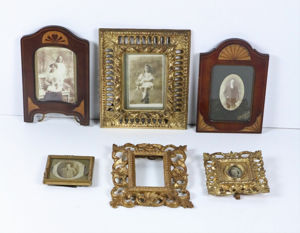 Lot 59 - A collection of various Picture Frames, including three carved and pierced giltwood frames,