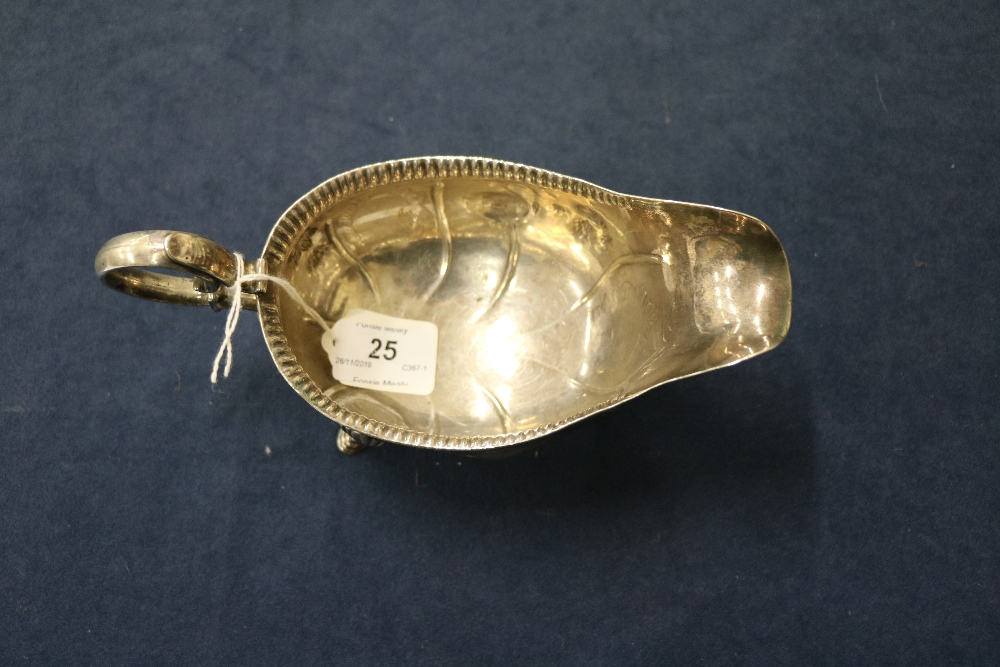 Lot 25 - A rare 18th Century Irish Provincial silver Sauceboat,