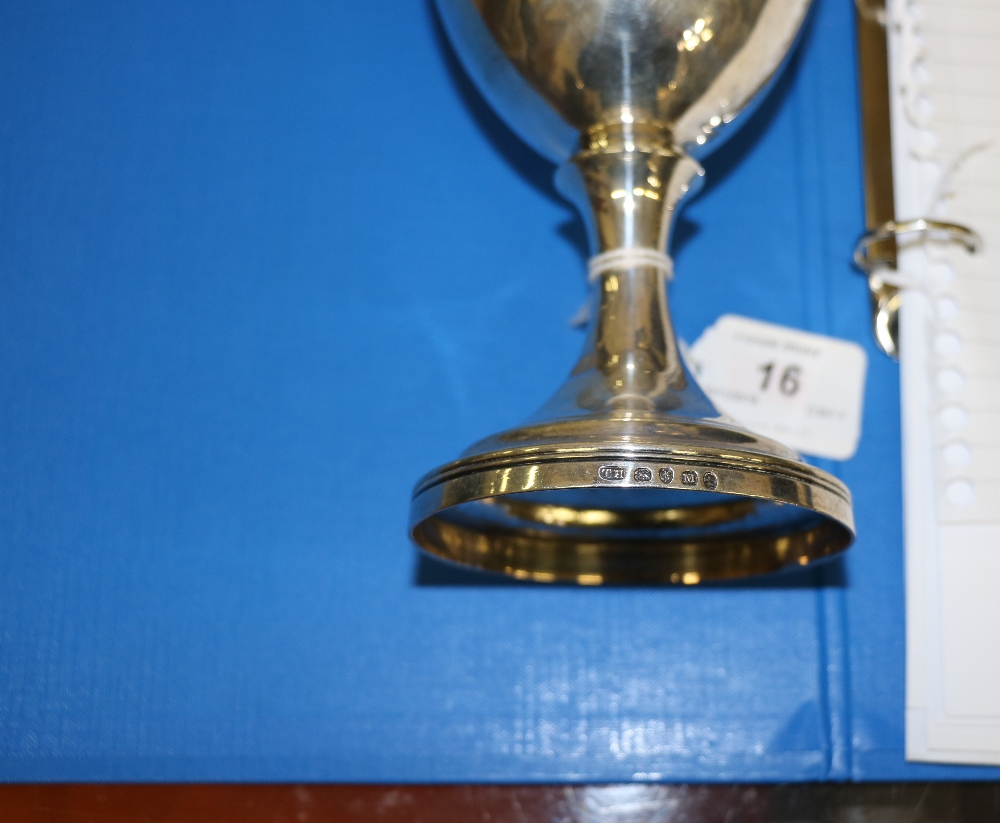 Lot 16 - A chalice type Trophy Cup, inscribed 'The Agricultural Society Hundred of West Derby,