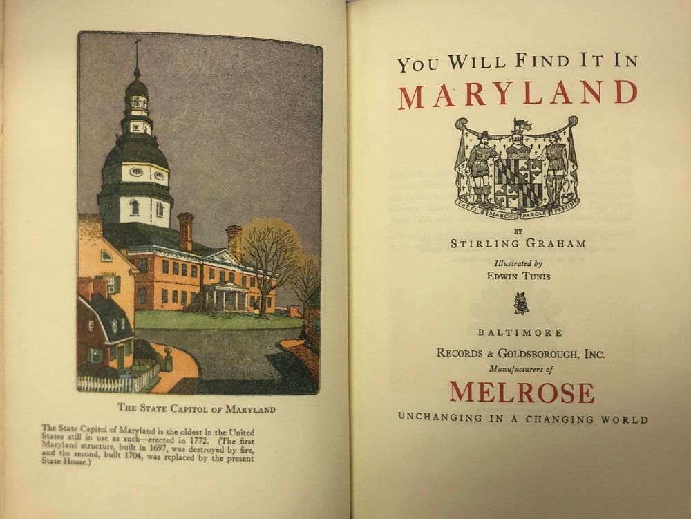 Lot 82 - Binding: Graham (Stirling) You Will find it in Maryland, roy 8vo Baltimore 1945. Cold. illus.