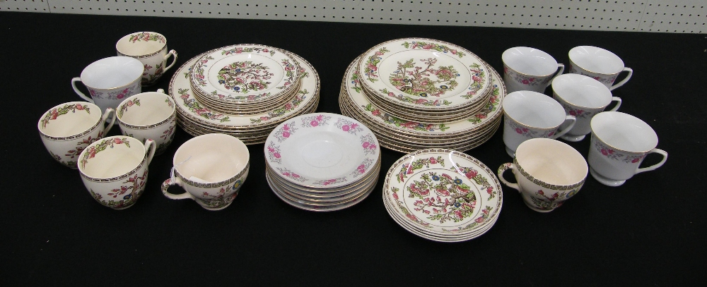 Lot 16 - Alfred Meakin 'Indian Tree' porcelain tea cups, saucers and tea wares (six setting), also a