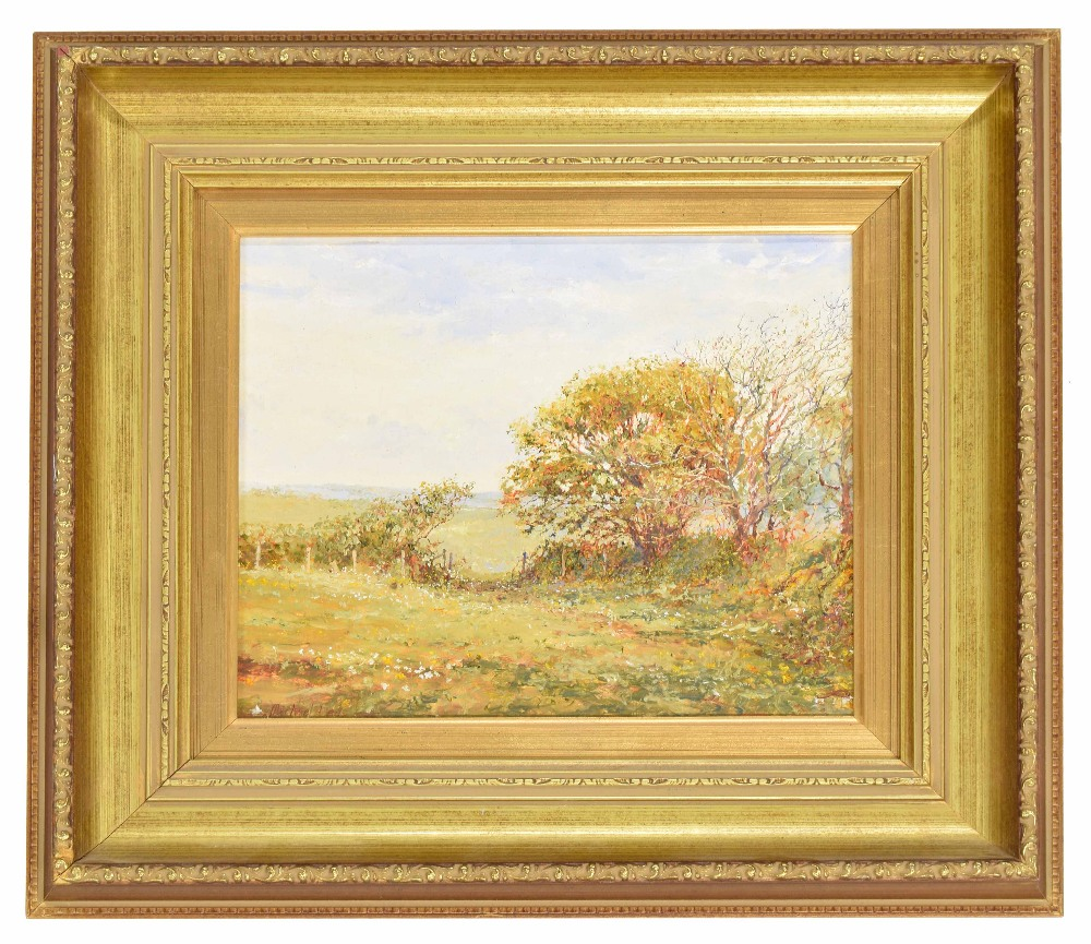 """Lot 240 - Michael Lees (20th/21st century contemporary) - """"In the shade of the Sycamore tree"""" signed, also"""