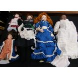 Lot 1 - Collection of bisque head dolls - including Hildegard Gunzel, Neu Bach and Jubilee Mold Co.