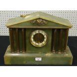 "Lot 31 - Onyx two train mantel clock in a Corinthian column architectural case, 12.5"" high"
