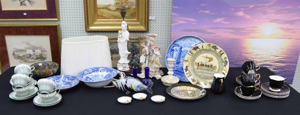"""Lot 7 - Spode 19th century blue and white transfer printed cheese stand, 11.5"""" diameter; Italian pattern"""