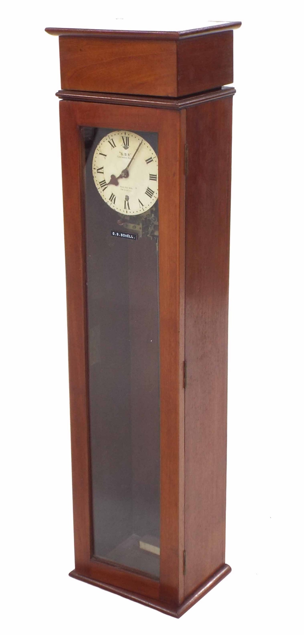 "Lot 1192 - Very early and rare G B Bowell ""Continuous Motion"" electric clock, constructed in 1929, the 5"""